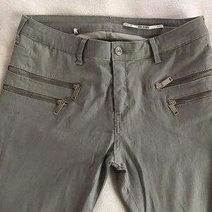 Zara Zipper Pants Gray 40/8