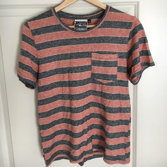 Jungmaven Tops - Jungmaven Hemp and Cotton Striped Shirt d6e4a71ded88