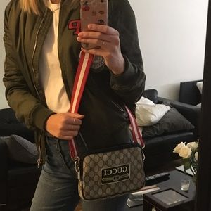Vintage Authentic Gucci Monogram Bag with patches