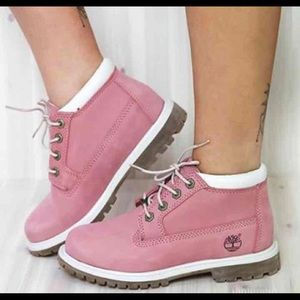 Timberland Shoes - Women's Pink Timberland Nellie  boots size 7.5