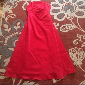 Nightway Dresses & Skirts - Red silky prom dress