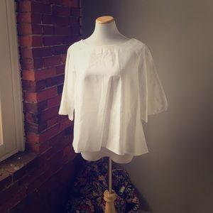 Zara Tops - Zara white linen top