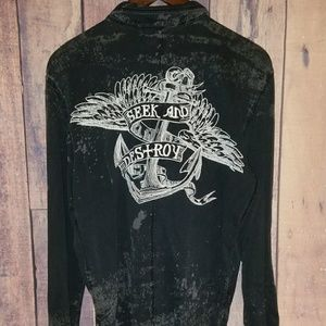 Salvage Jackets & Blazers - Embroidered Anchor Jacket