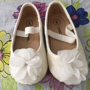 Cherokee Other - Baby girl floral and sequin flats