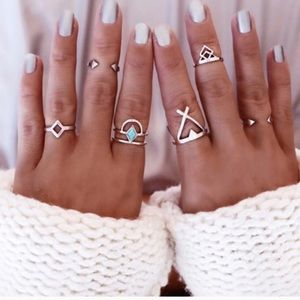 PacSun Jewelry - Boho rings 6 piece set