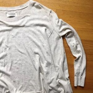 All Saints Sweaters - All Saints Cream Speckled Long Sleeve Size 6 UK 10