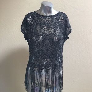 Maurice's Size Small Very Chic 💣 Black Sheer Top