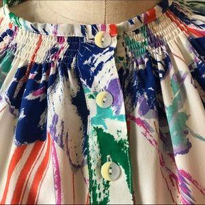 Tucker Tops - TUCKER Silk Blouse Size Small