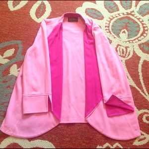 Bob Mackie Sweaters - Pink blazer cardigan mix
