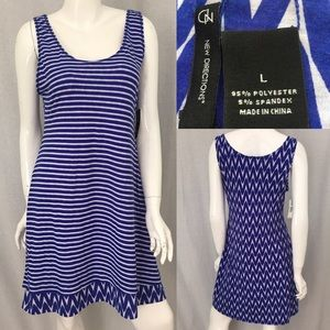new directions Dresses & Skirts - ⭐️Sz Large New Direction Reversible Blue Sun Dress