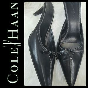 Cole Haan Shoes - Cole Haan Leather Mules Heels