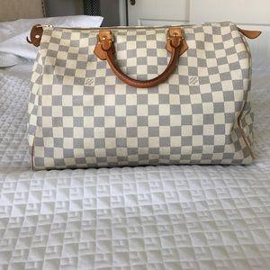 Louis Vuitton Handbags - Louis Vuitton Speedy 35 Damier Azur Canvas