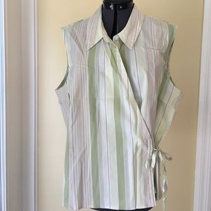 Emma jeans plus 16 spring cotton wrap around shirt