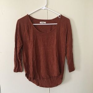Madewell anthem scoop tee in rust