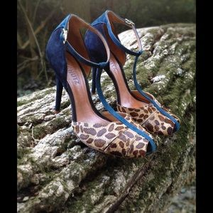 Schutz Shoes - Schutz Cosima T-strap animal print pump