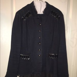 Free People Victorian Lace Up Jacket