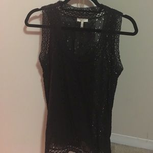 Sheer Black Joie Tank Top