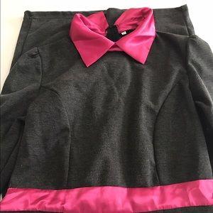 Dresses & Skirts - Hot Pink/Gray Peter Pan Collared Dress
