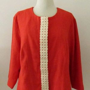 Size 14 COLDWATER CREEK Orange Tweed Jacket