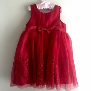 Osh Kosh Other - Toddler Girl A-Line Holiday Red Shimmer Dress 4T