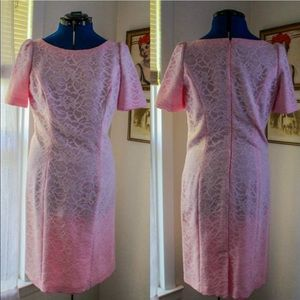 Vintage 1960's Pink Lace Wiggle / Shift Dress