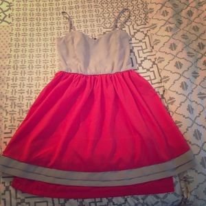 Ya Los Angeles Dresses & Skirts - Gray and coral dress.