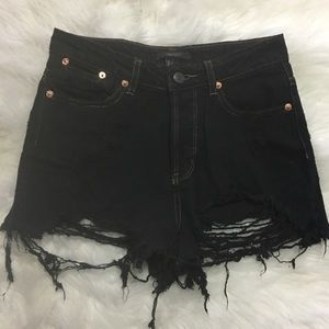 Fashion Nova Pants - High waisted ripped shorts