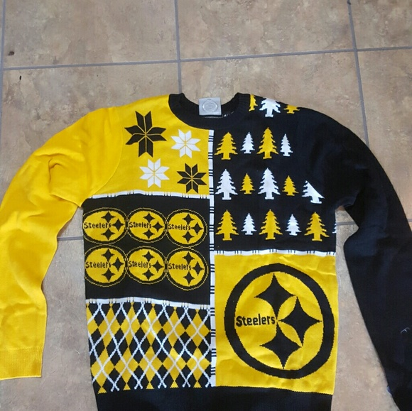 finest selection 6b1c2 1dc2e Pittsburgh Steelers Christmas Sweater NWT