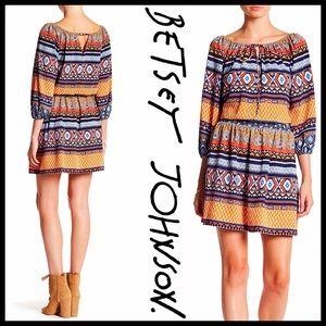 ❗️1-HOUR SALE❗️BETSEY JOHNSON BOHO PRINT DRESS
