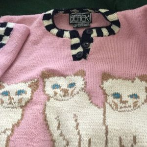 Great Berek sweater with Cats, L