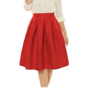 Allegra K Dresses & Skirts - Floral textured skirt