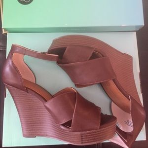 BC Footwear Shoes - Brown Ankle-Strap Wedges