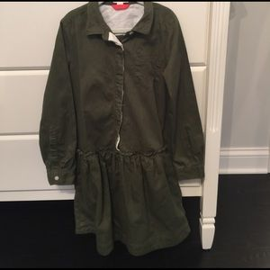 J. Crew Other - J Crew crew cuts army green shirt dress size 10
