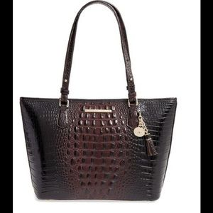 Brahmin Handbags - 💯Brahmin Md.Asher Tote CrocEmbossed Leather Cocoa