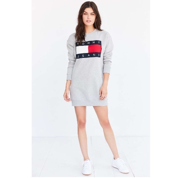 f8d8ea0c3e9 Tommy Hilfiger For UO 90s Sweatshirt Mini Dress