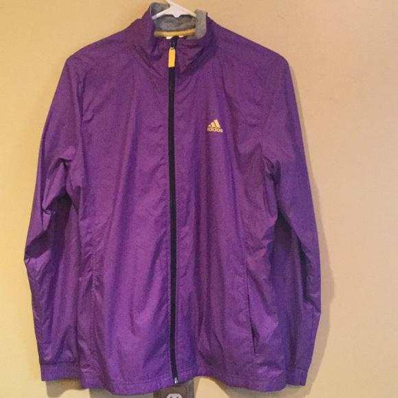 M Yellow Adidas Windbreaker Jacket Ladies Purpleamp; qGLpSzUMVj