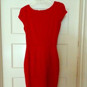 Closet Dresses & Skirts - Red ribbed sheath work dress