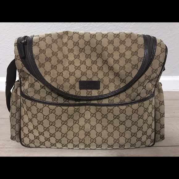 59cc9551c8b5 Gucci Bags | Authentic Used Canvas Diaper Bag | Poshmark