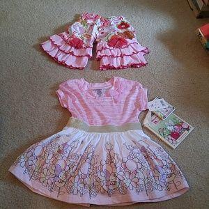 Other - Hello Kitty Dress NWT Ann Loren Pants 12m (B3)