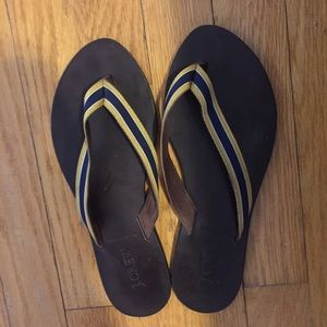 J. Crew Shoes - J. Crew brown leather flip flops