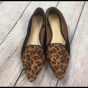 Gap black and leopard print flats size 6