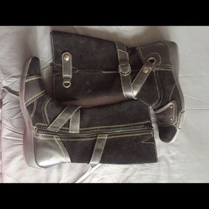 Naturalizer Shoes - EUC Black/Suede Leather Boots