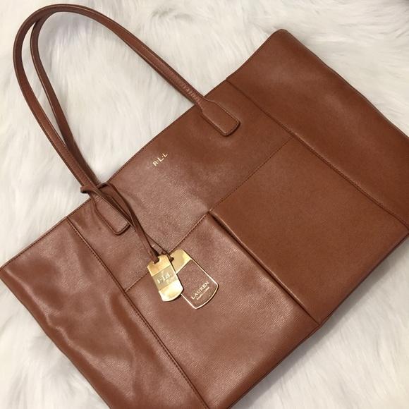 66c9bf3bea Lauren Ralph Lauren Handbags - Lauren By Ralph Lauren Newbury Large Tote in  Brown