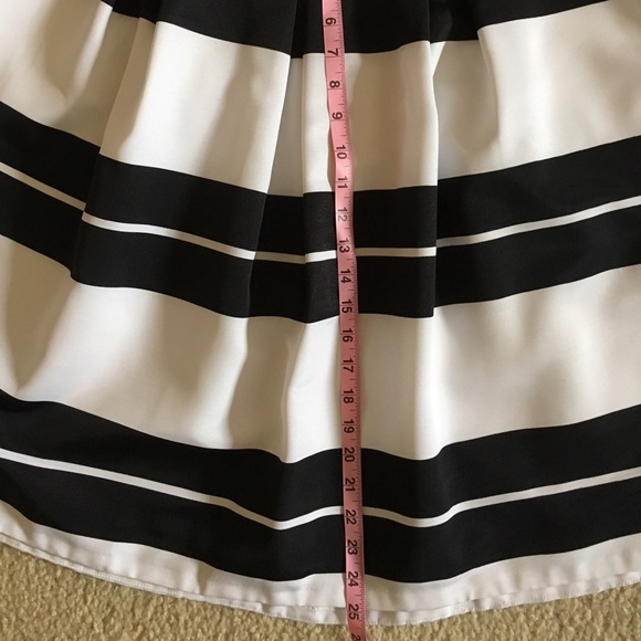 express express black white striped a line skirt from