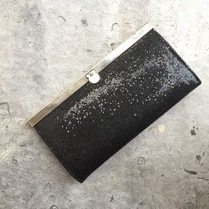 bebe Handbags - Bebe Black Sequin Wallet