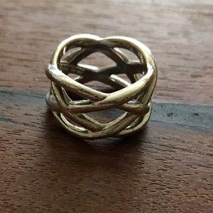 Tiffany & Co. Jewelry - Tiffany & Co. Braided Criss Cross Ring sz 6