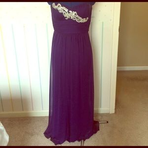 Blondie Nites Dresses & Skirts - Purple floor length Blondie Nites prom dress!
