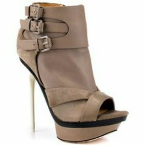 L.A.M.B. Shoes - L.a.m.b Dottie peep toe  platform bootie