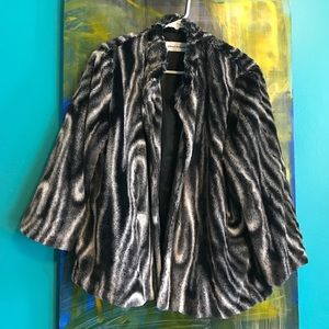 Faux fur vintage inspired jacket