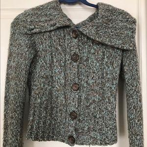 Free People Cashmere Cardigan Shawl Sweater